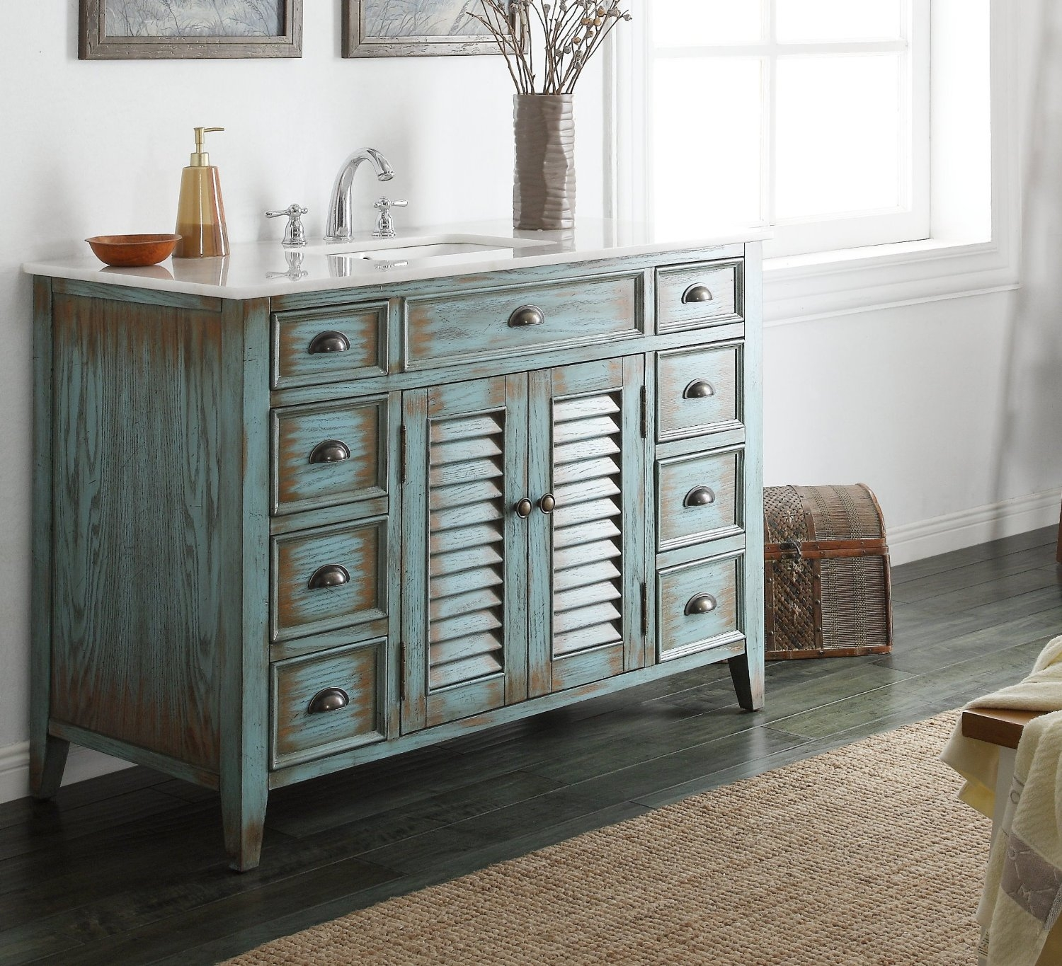 Distressed Bathroom Vanity Units