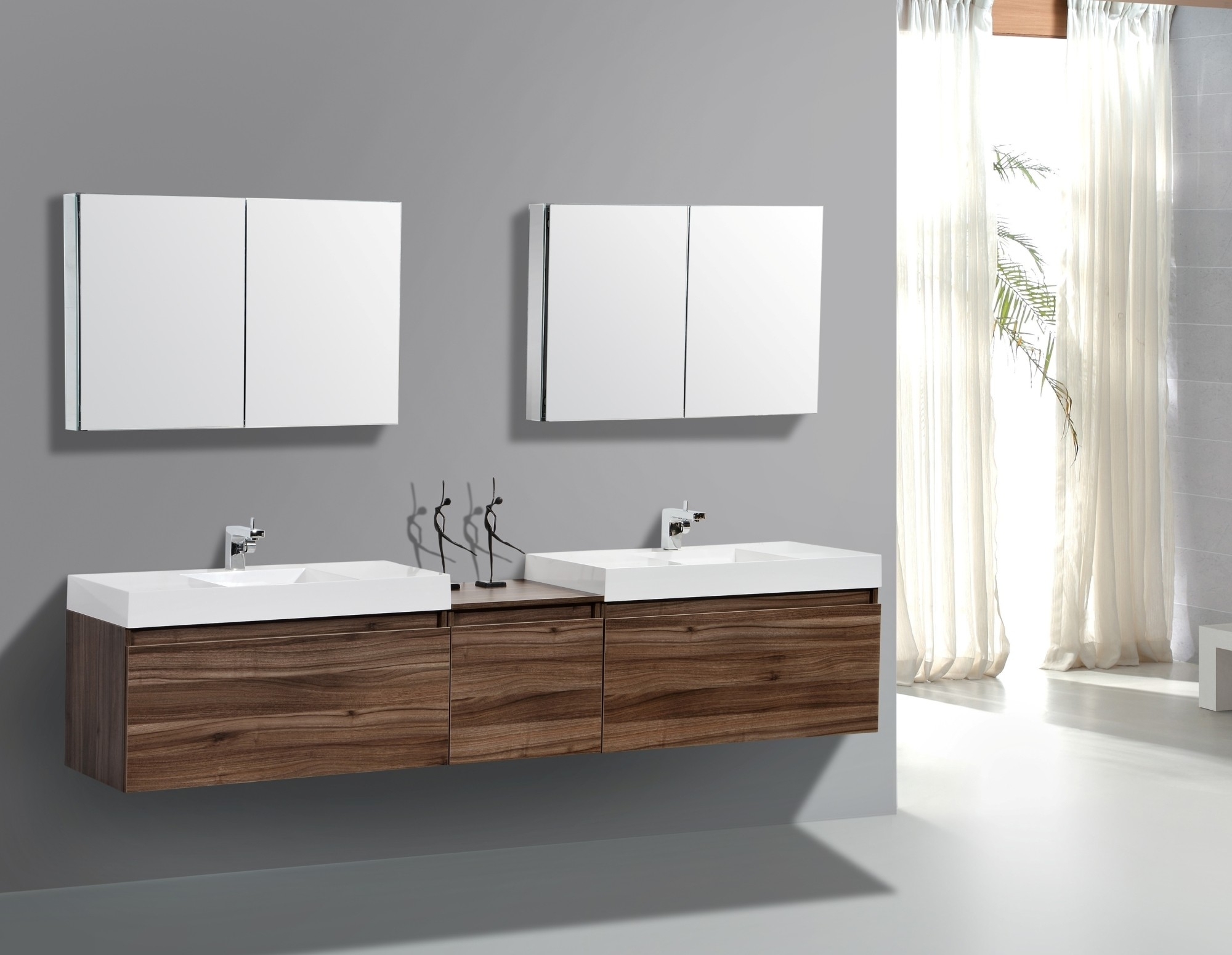 Floating Bathroom Vanity Walnut