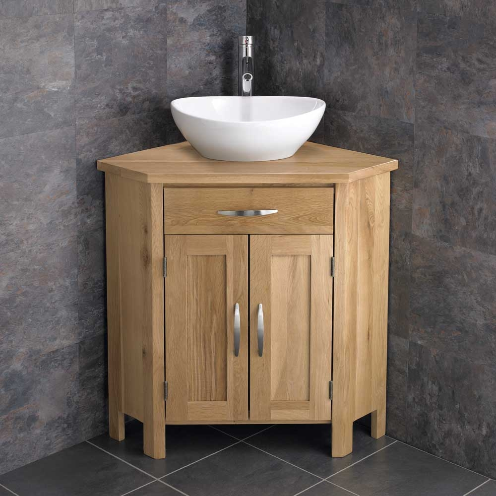 Free Standing Bathroom Cabinets Oak