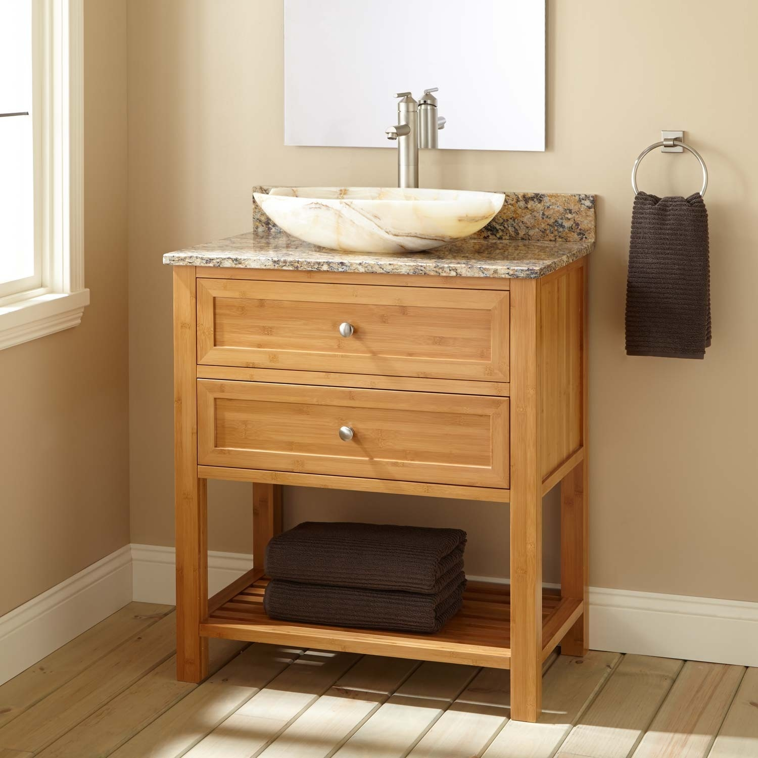 Knotty Pine Bathroom Wall Cabinet