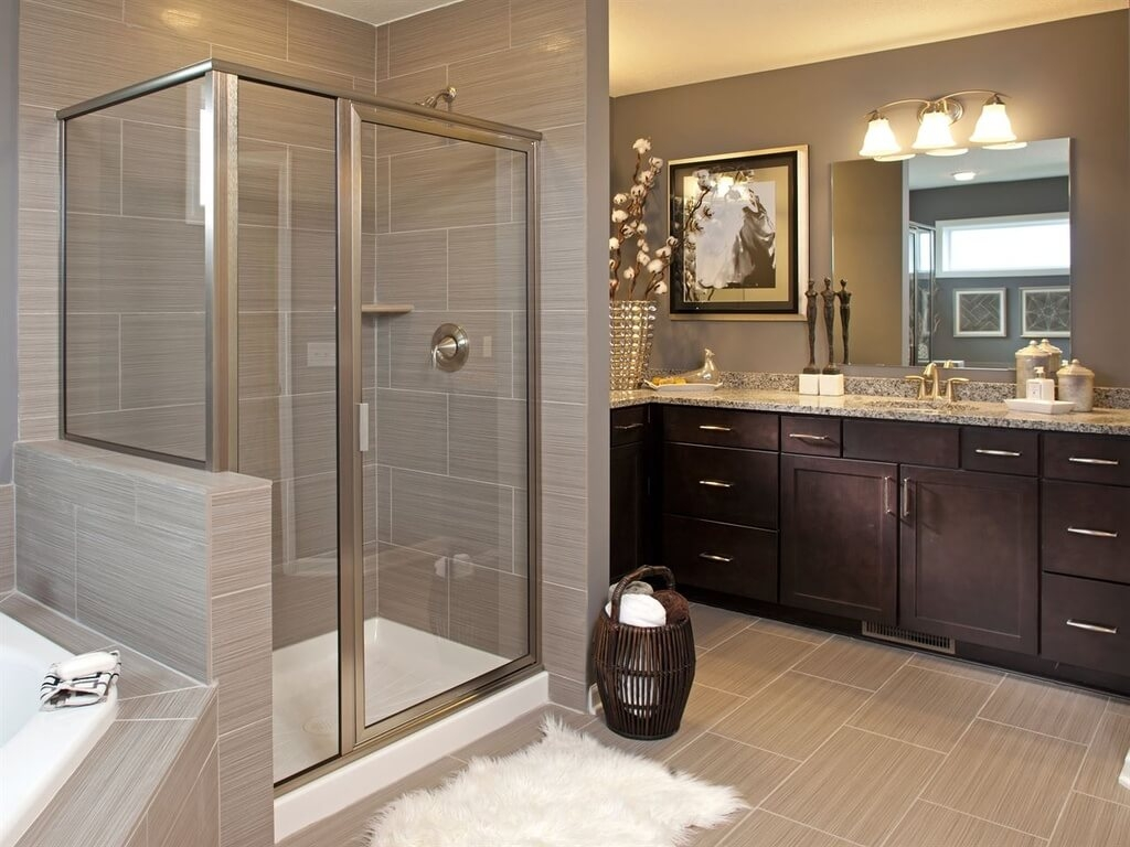L Shaped Master Bathroom Vanities