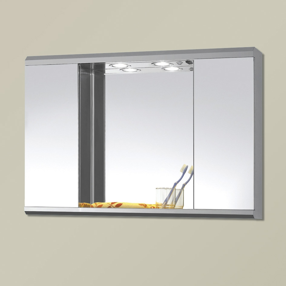 Large Mirrored Bathroom Cabinets With Lights