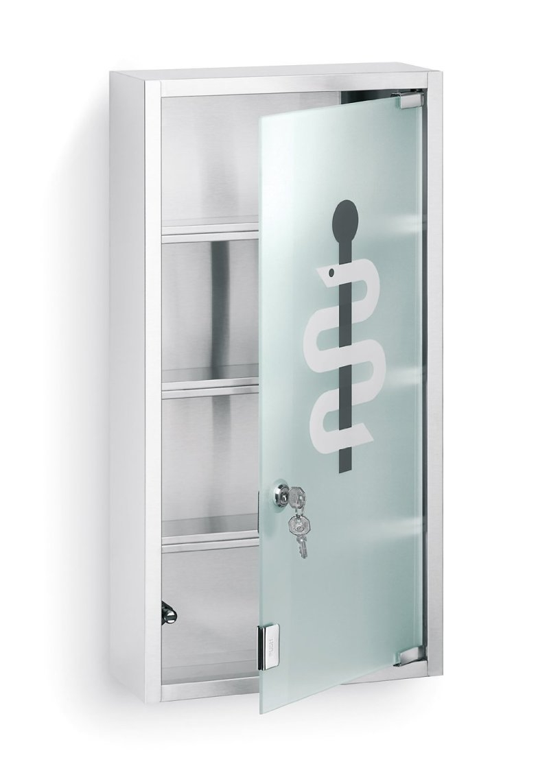 Mirrored Bathroom Cabinet With Lock