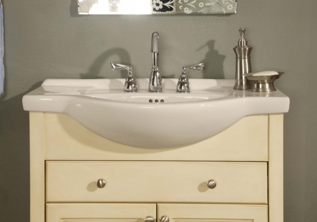 Permalink to Narrow Depth Bathroom Vanity White
