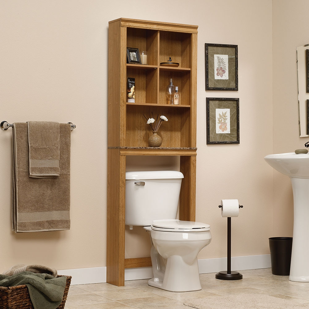 Oak Bathroom Cabinets Over Toilet