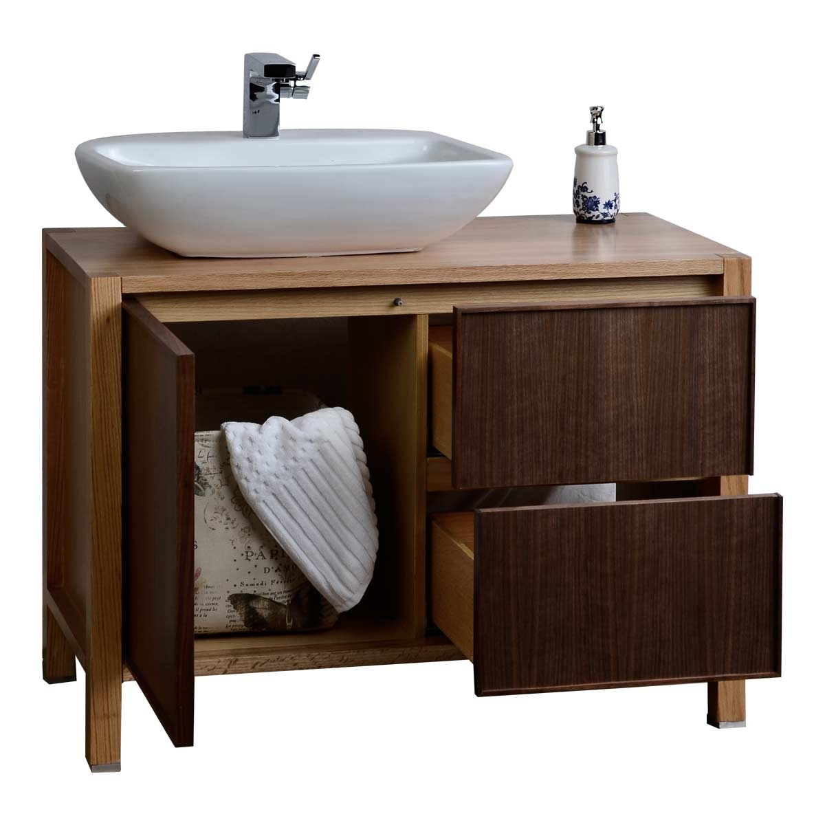 Permalink to Real Wood Bathroom Cabinets
