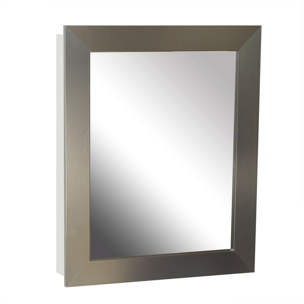 Recessed Bathroom Medicine Cabinet Brushed Nickel