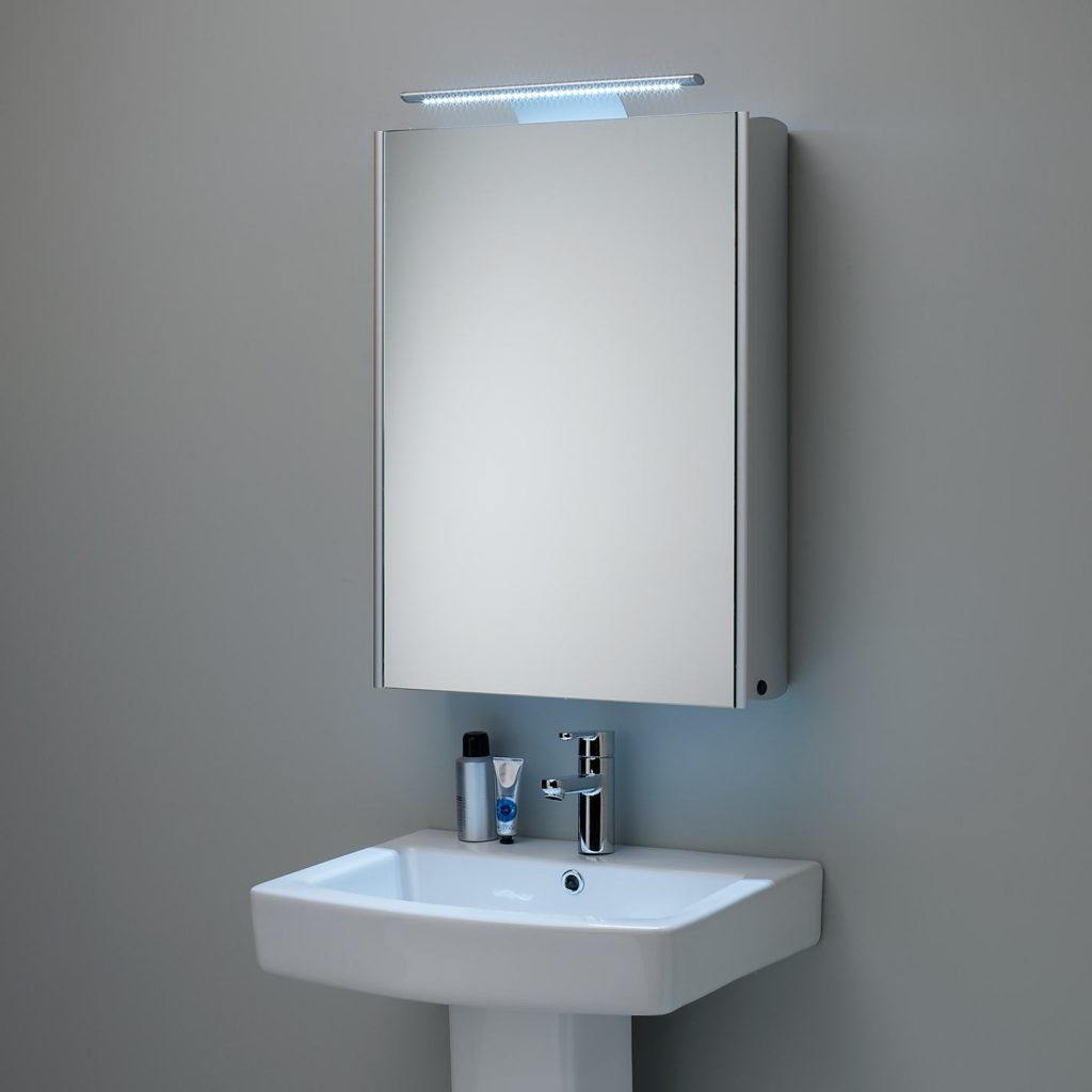 Shallow Illuminated Bathroom Cabinet