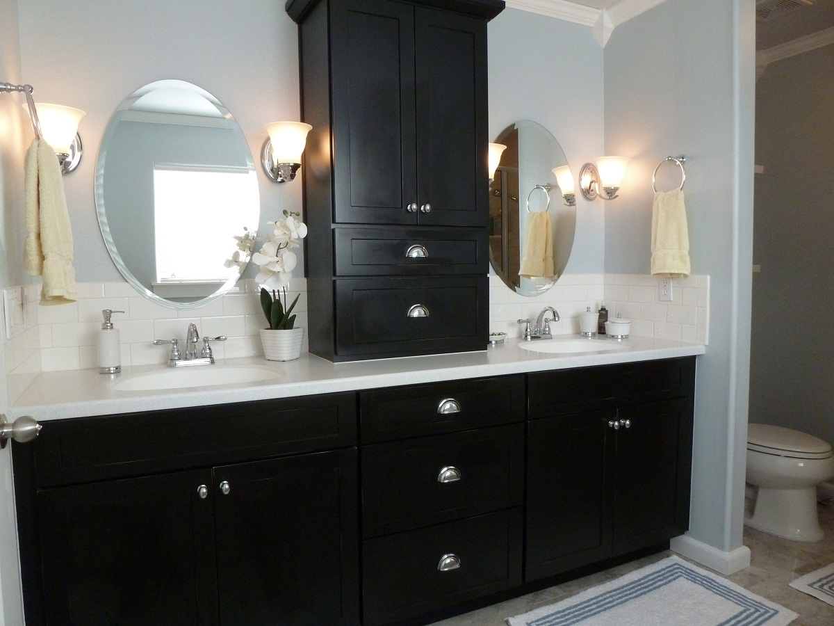 Small Bathroom Cabinet Colors