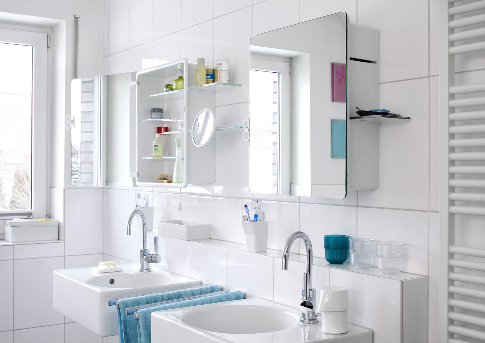 Small Bathroom Cabinets Mirror