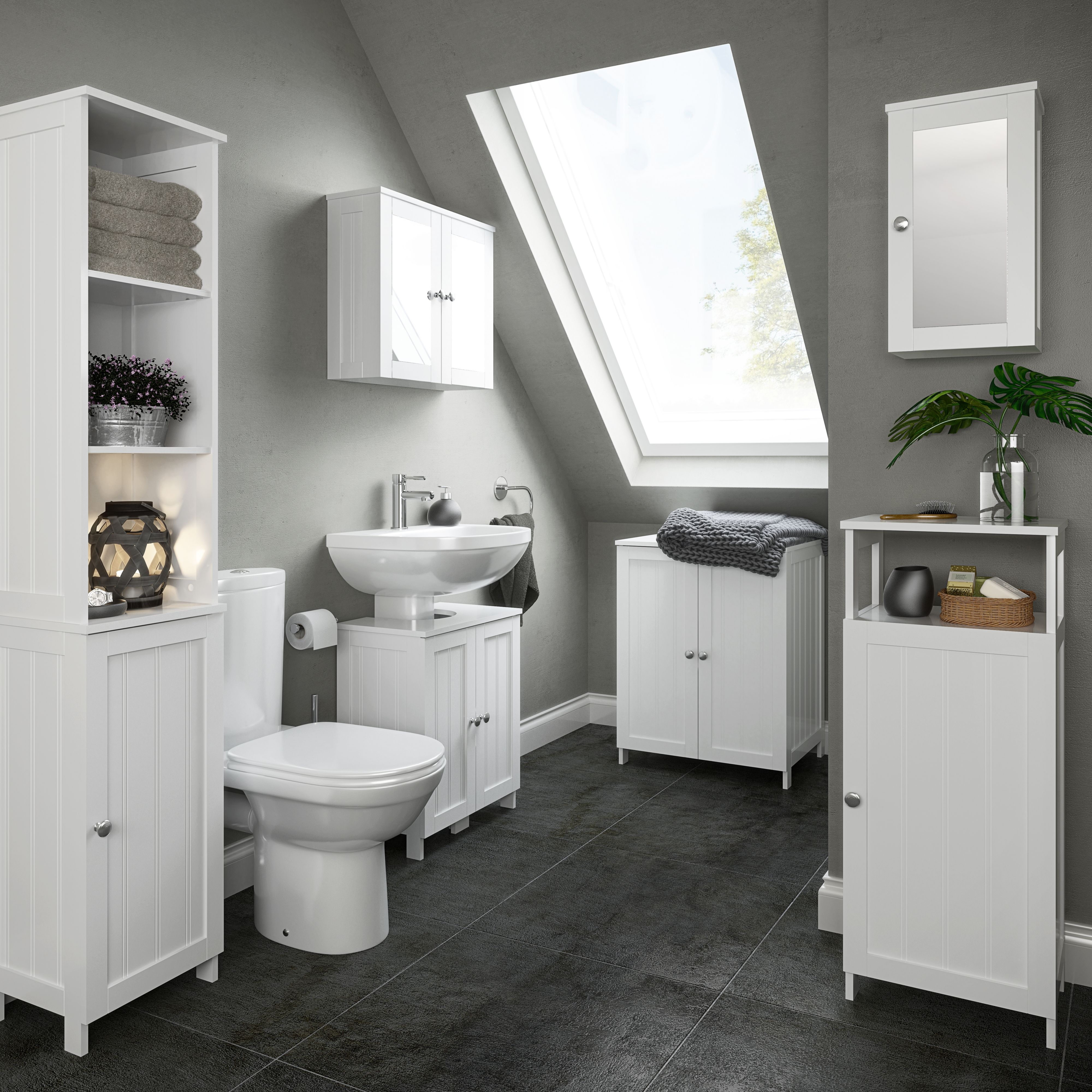 Permalink to Tall Bathroom Cabinets B&Q