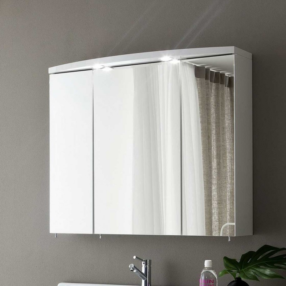 Permalink to Triple Mirrored Bathroom Cabinets