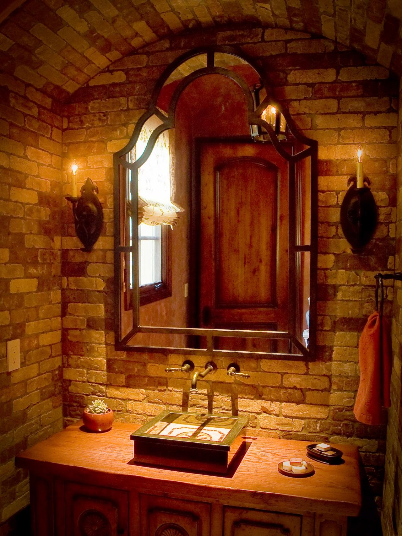 Tuscan Bathroom Vanity Mirrors