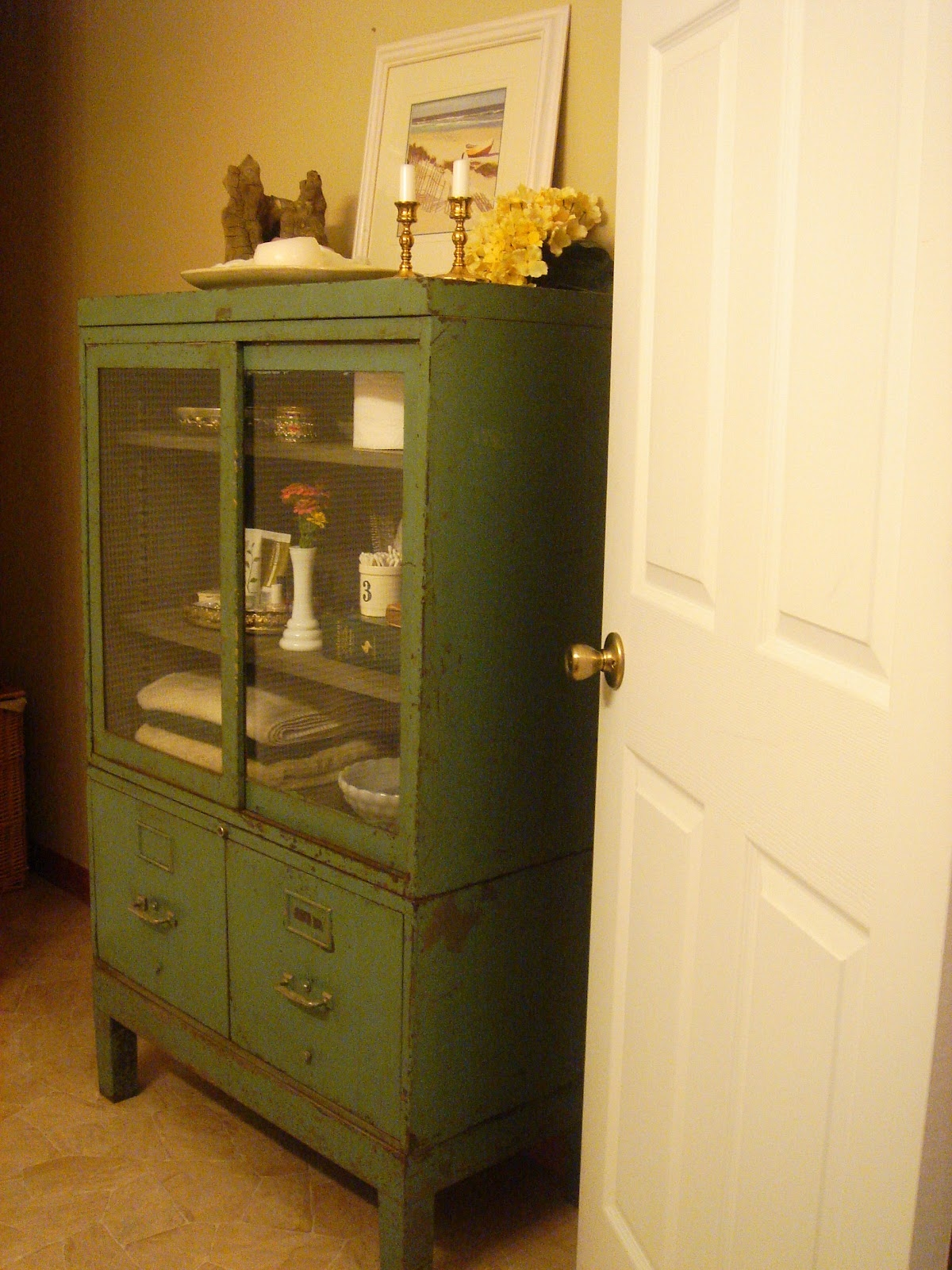 Vintage Bathroom Storage Cabinets