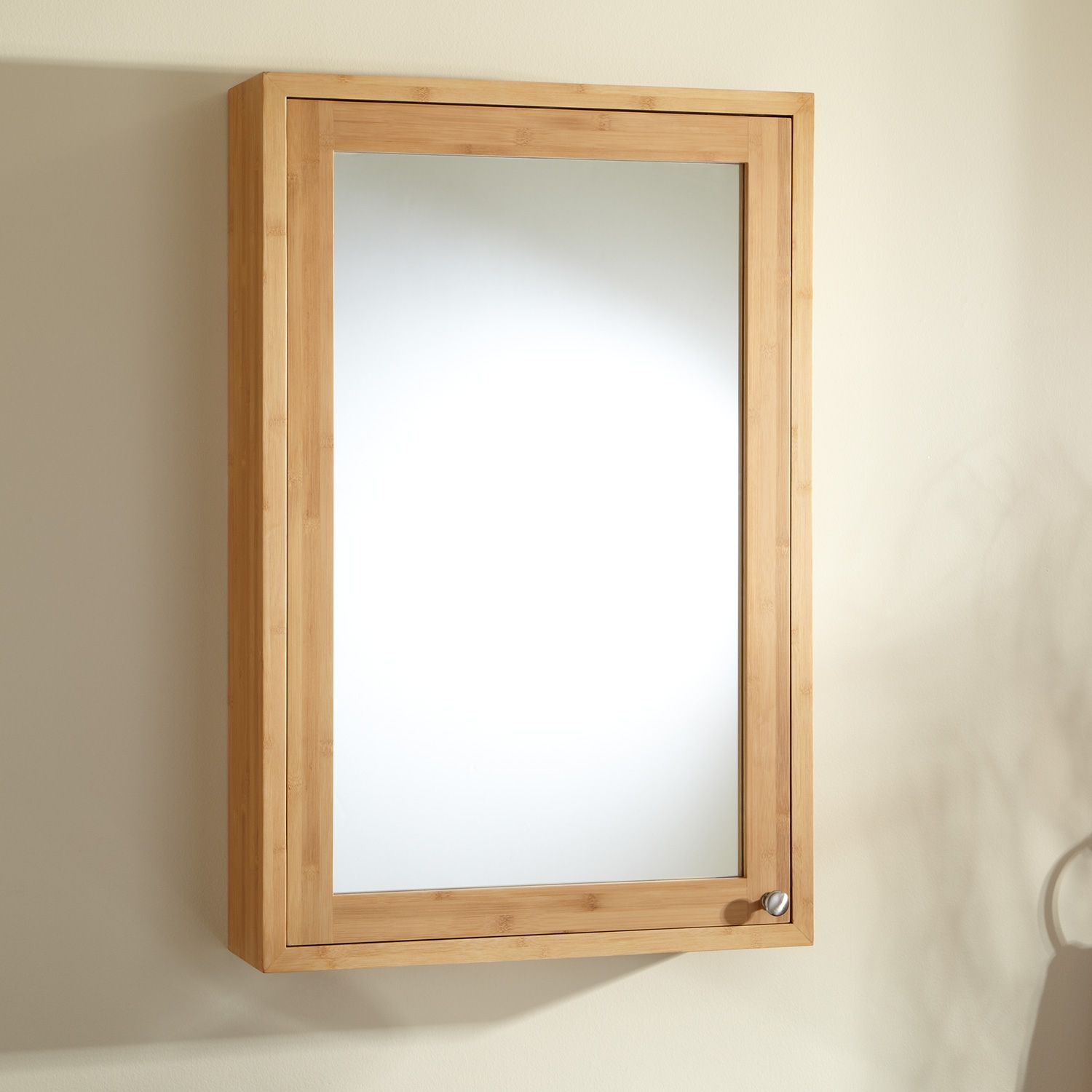 Wood Bathroom Cabinet With Mirror