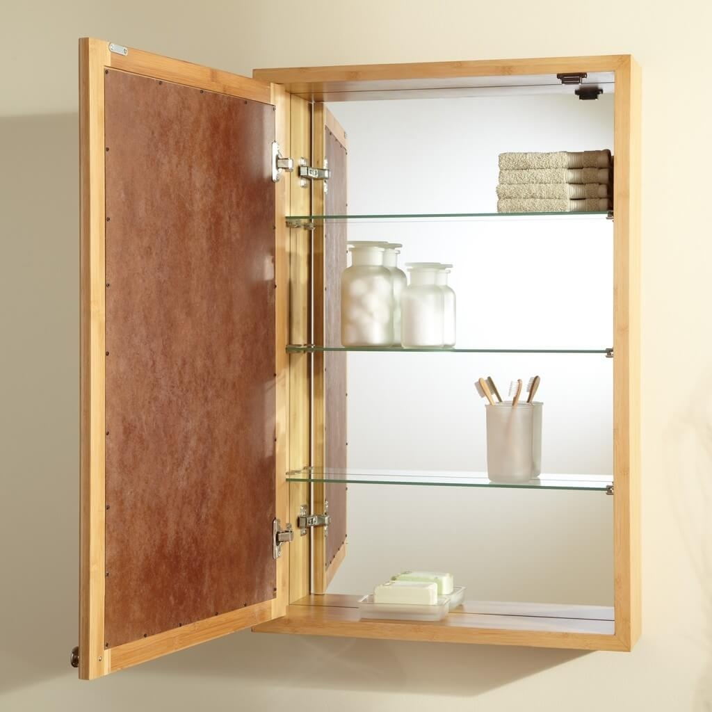 Wooden Bathroom Cabinets With Mirror