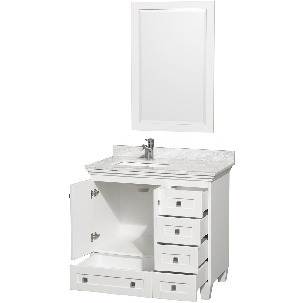 Permalink to 18 Inch White Bathroom Vanity With Top