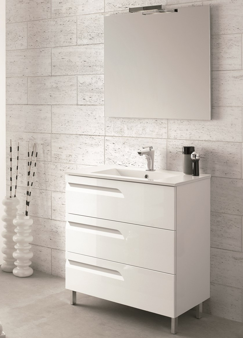Ace Deluxe White Space Saver Bathroom Cabinet