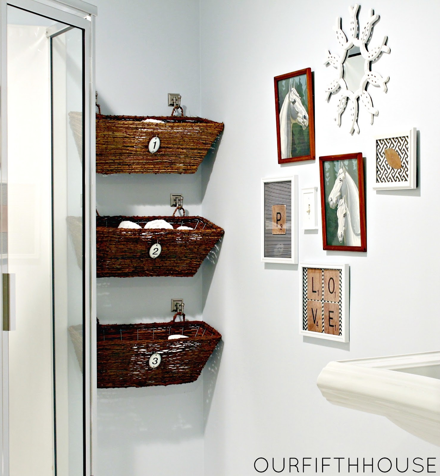 Bathroom Cabinet Storage Baskets