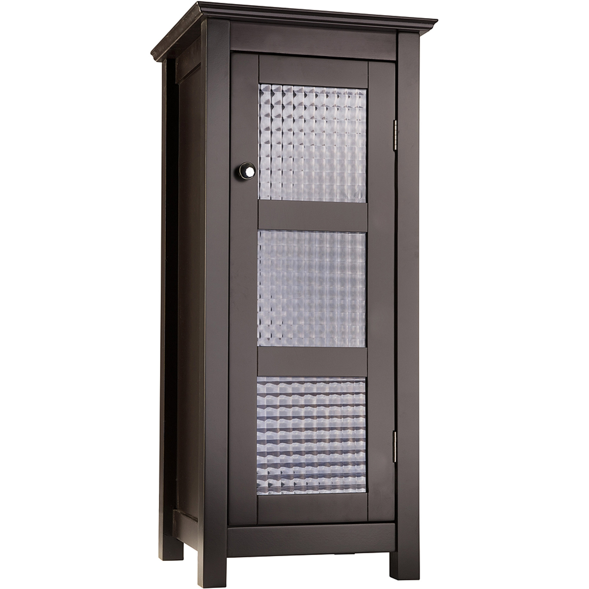 Bathroom Floor Cabinet With Glass Doors