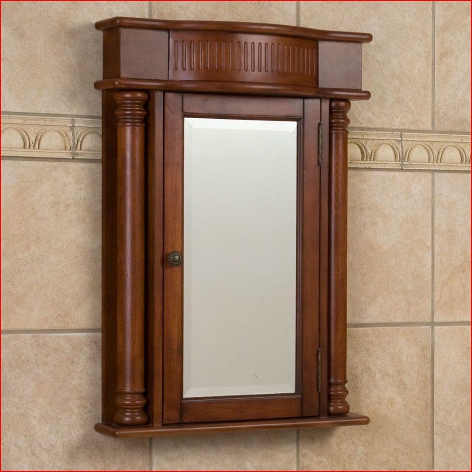 Permalink to Bathroom Medicine Cabinets Dark Wood