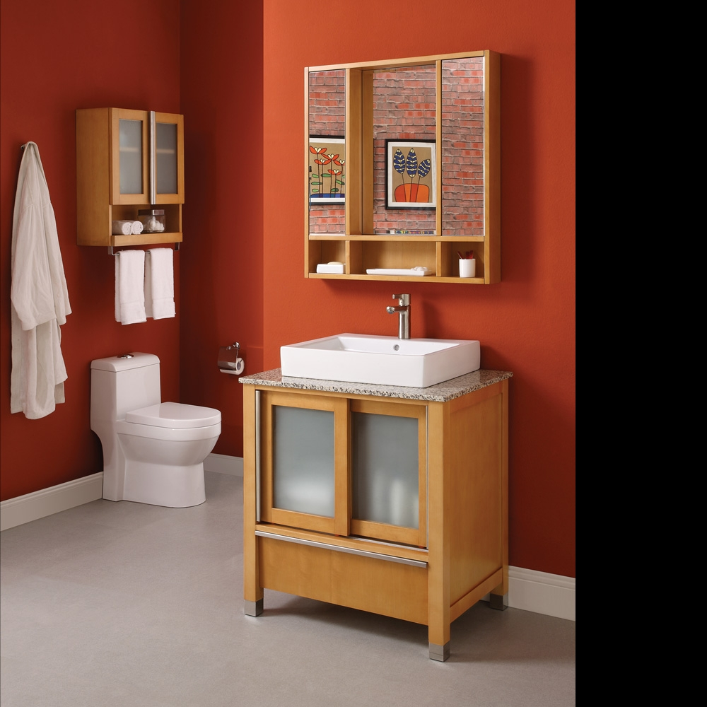 Bathroom Vanity With Sliding Doors