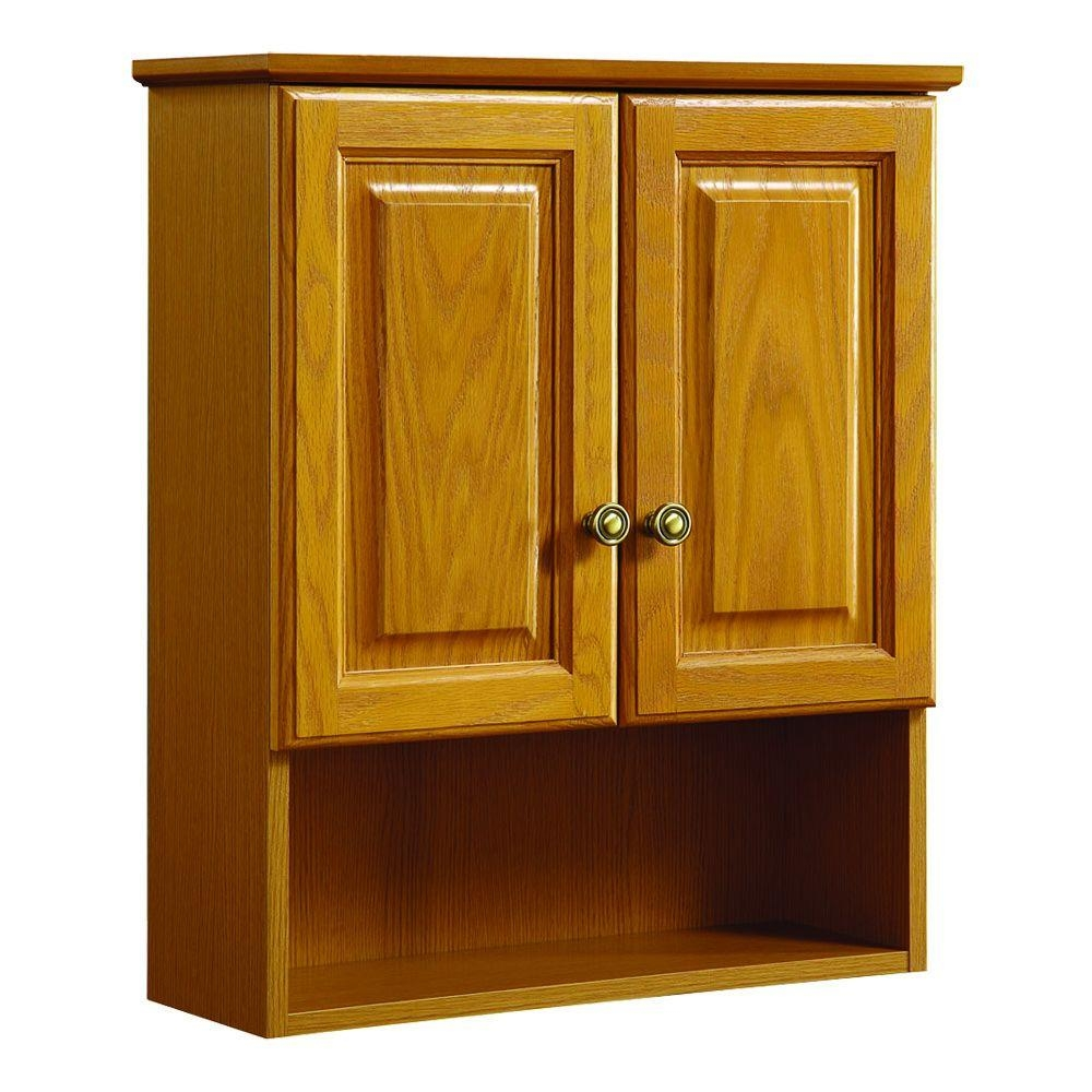 Permalink to Bathroom Wall Cabinets Oak