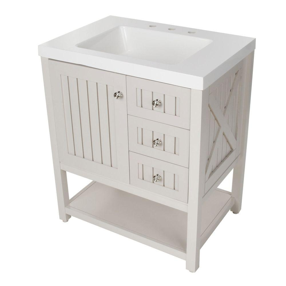 Beadboard Bathroom Vanity Home Depot
