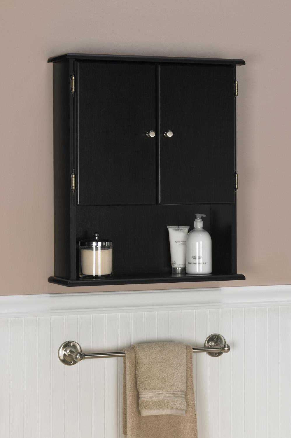 Permalink to Black Bathroom Wall Cabinet Shelf