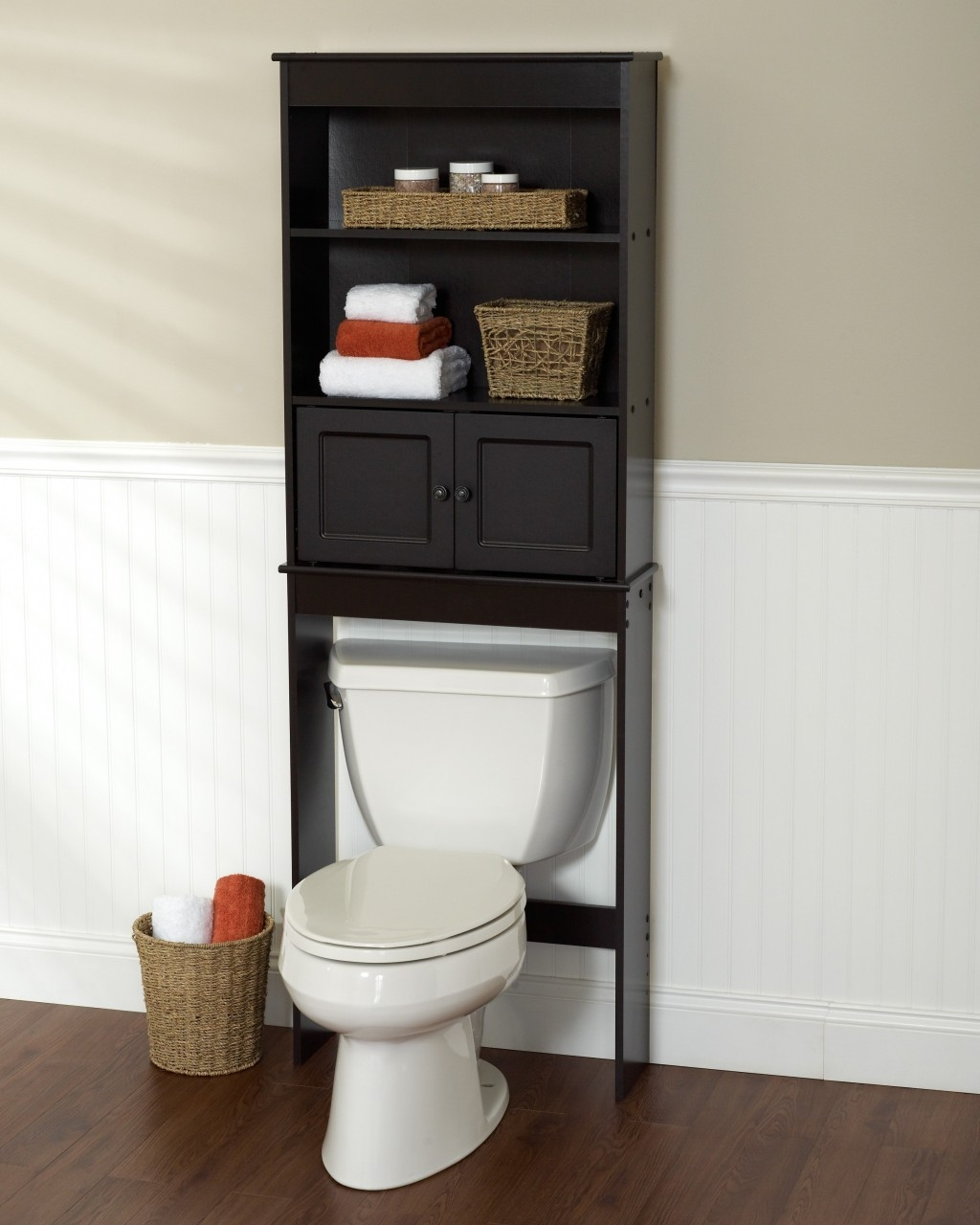 Black Space Saver Bathroom Cabinet1024 X 1280