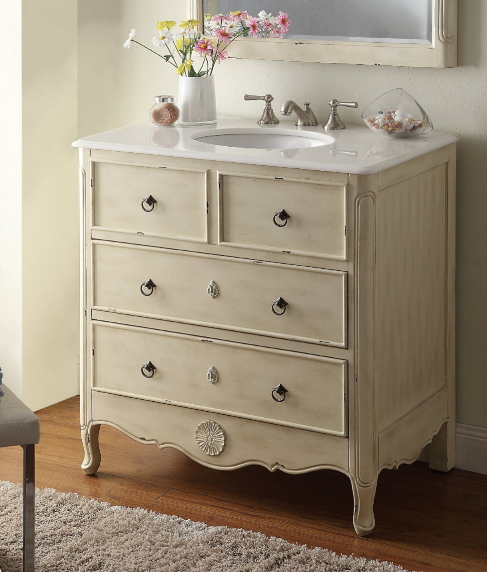 Distressed Bathroom Vanity 36bathroom vanities vanity coastal cottage beach house