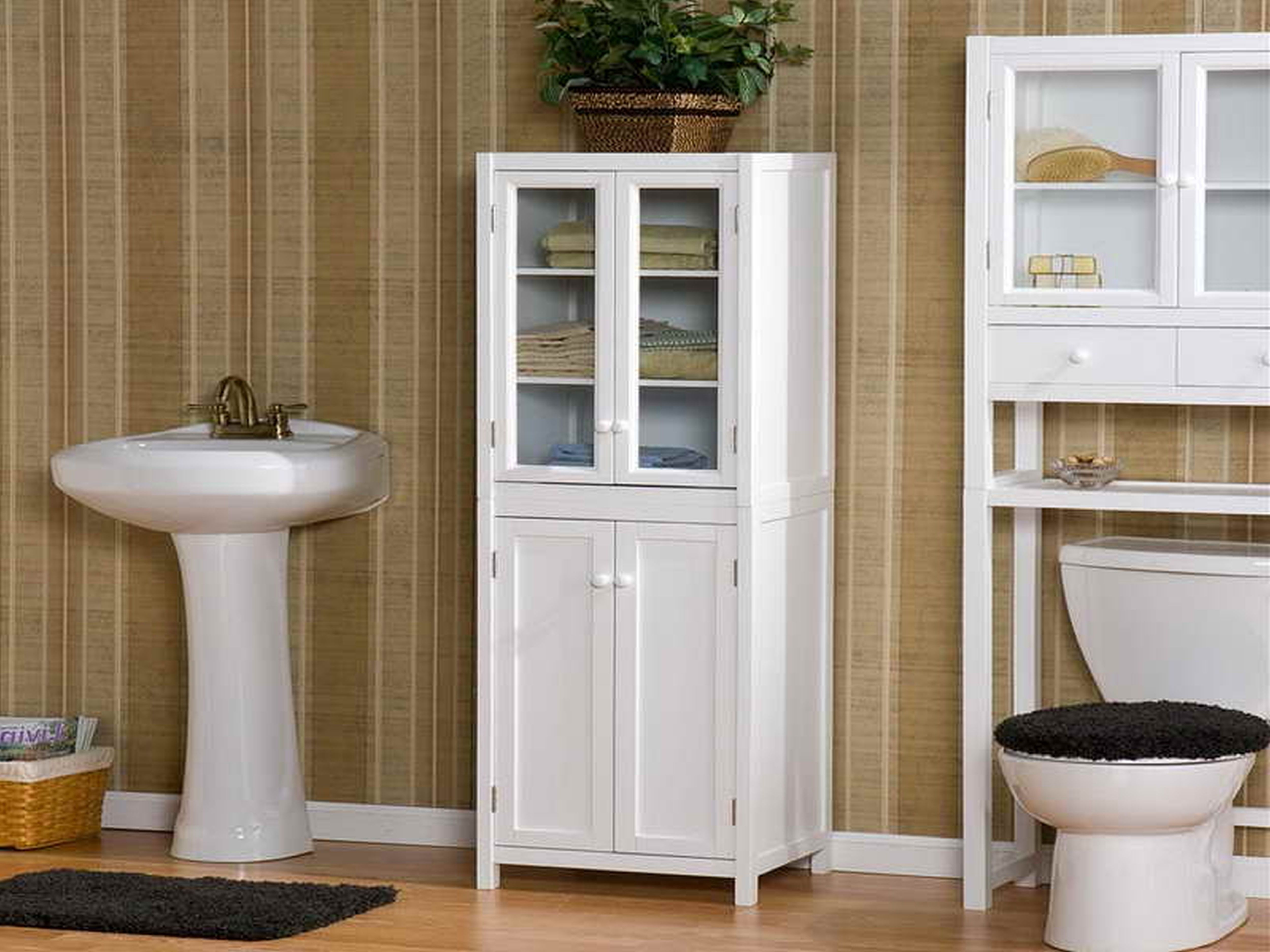 Free Standing Bathroom Storage Cupboards