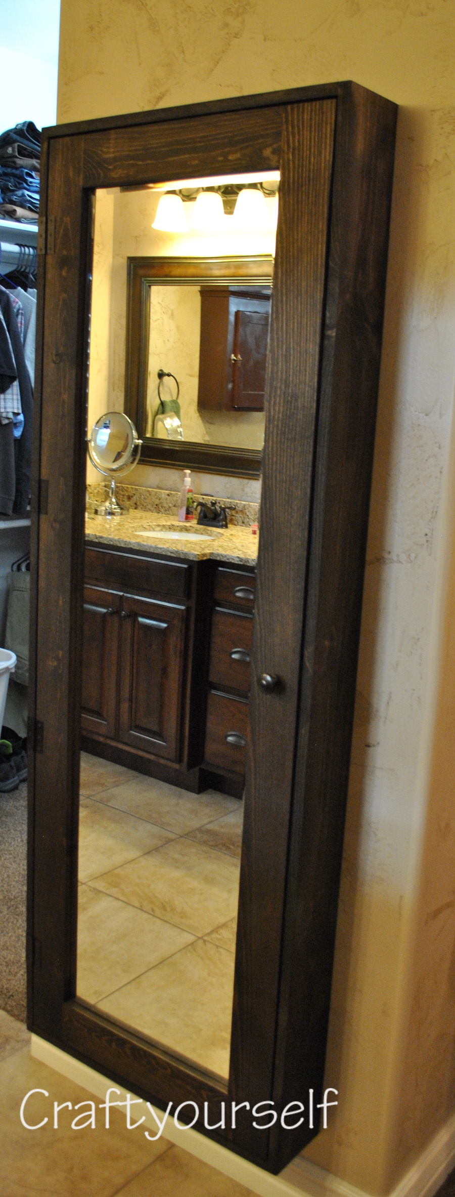 Full Length Bathroom Mirror Cabinet