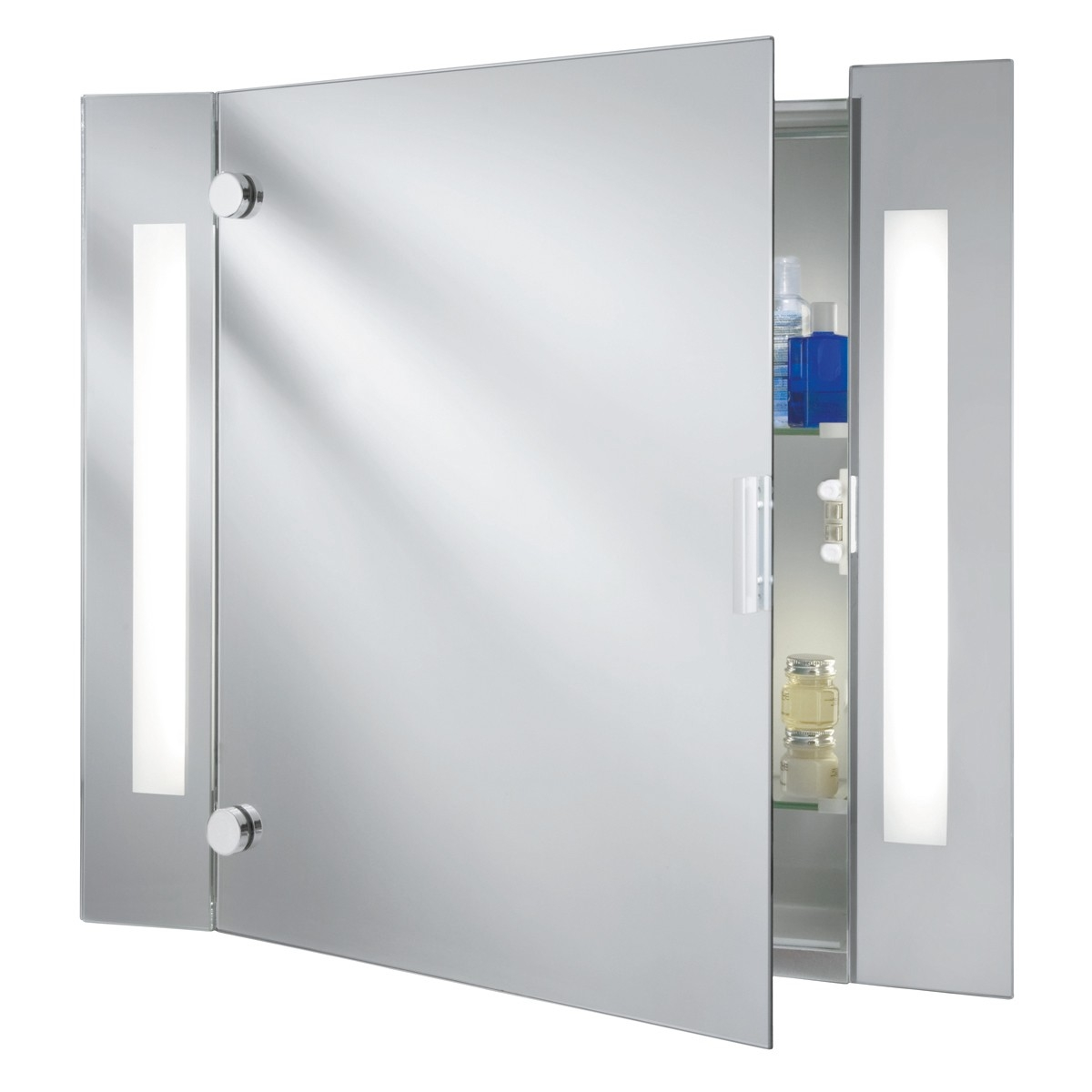 Permalink to Illuminated Bathroom Mirror Cabinets With Shaver Socket