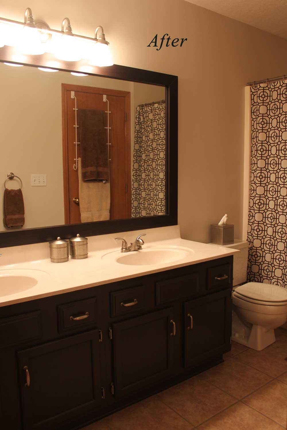 Paint Bathroom Cabinets Dark Brown