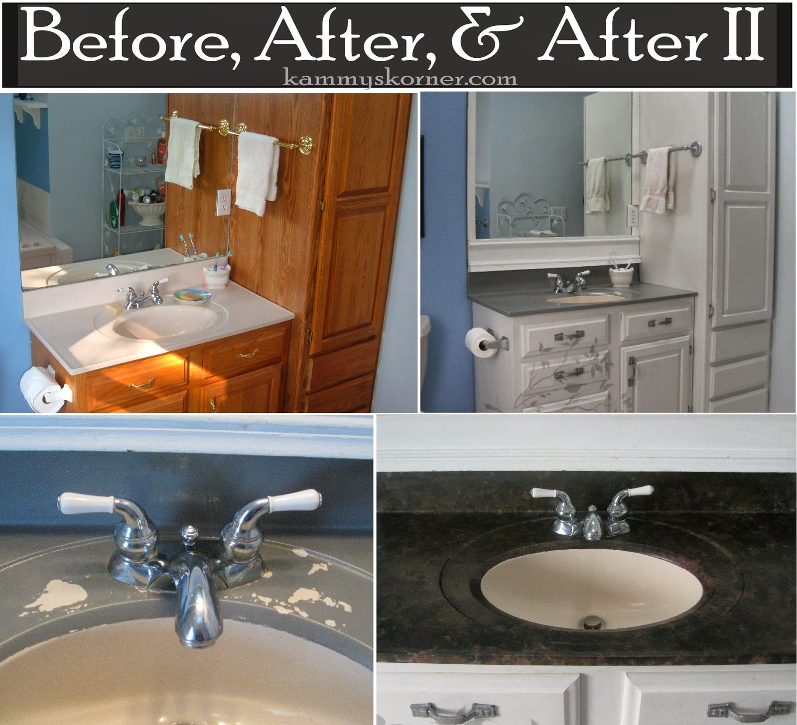 Redo Bathroom Vanity Countertopkammys korner painting a porcelain vanity countertop new and