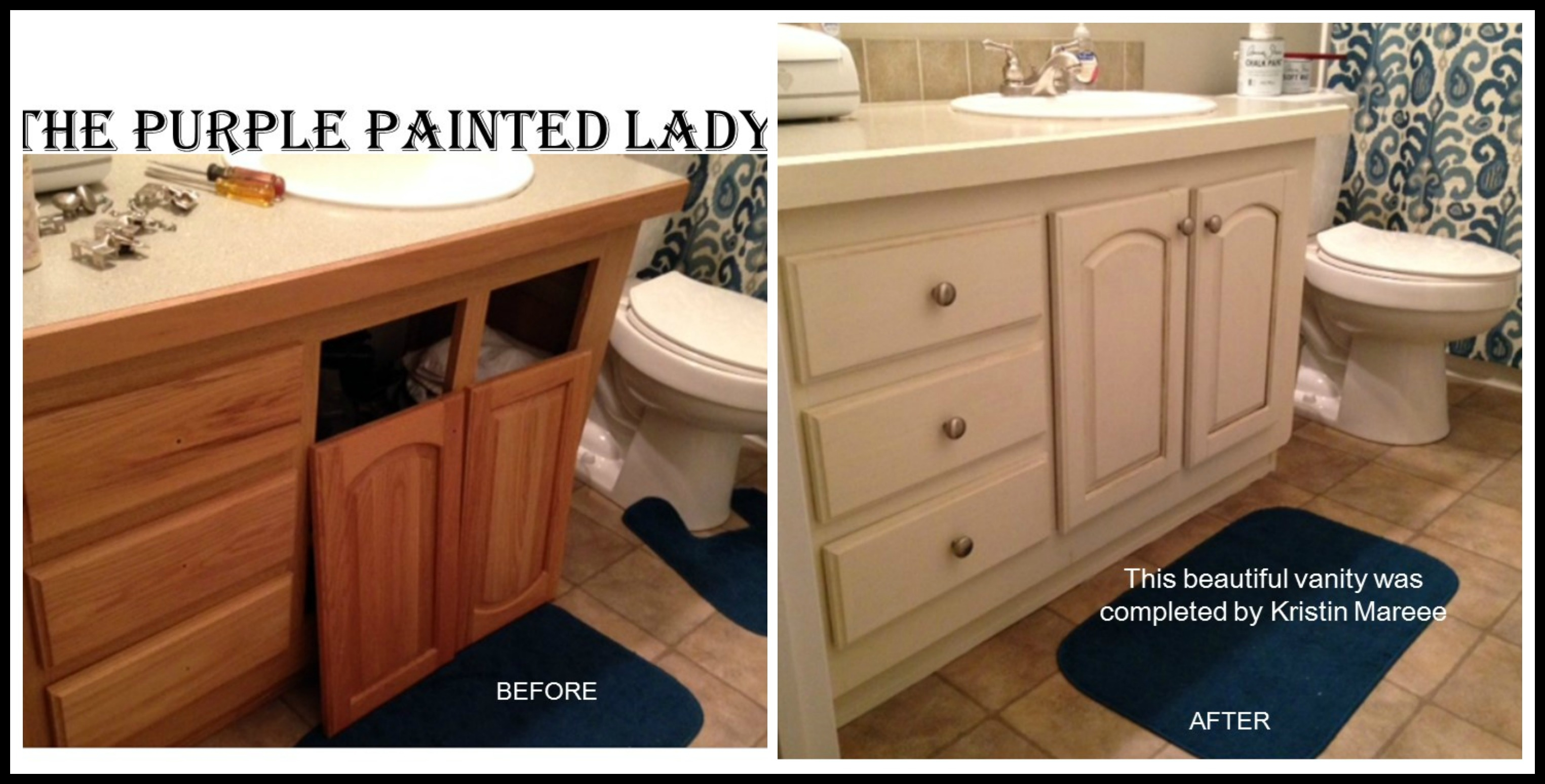 Permalink to Refinishing Bathroom Vanity With Chalk Paint
