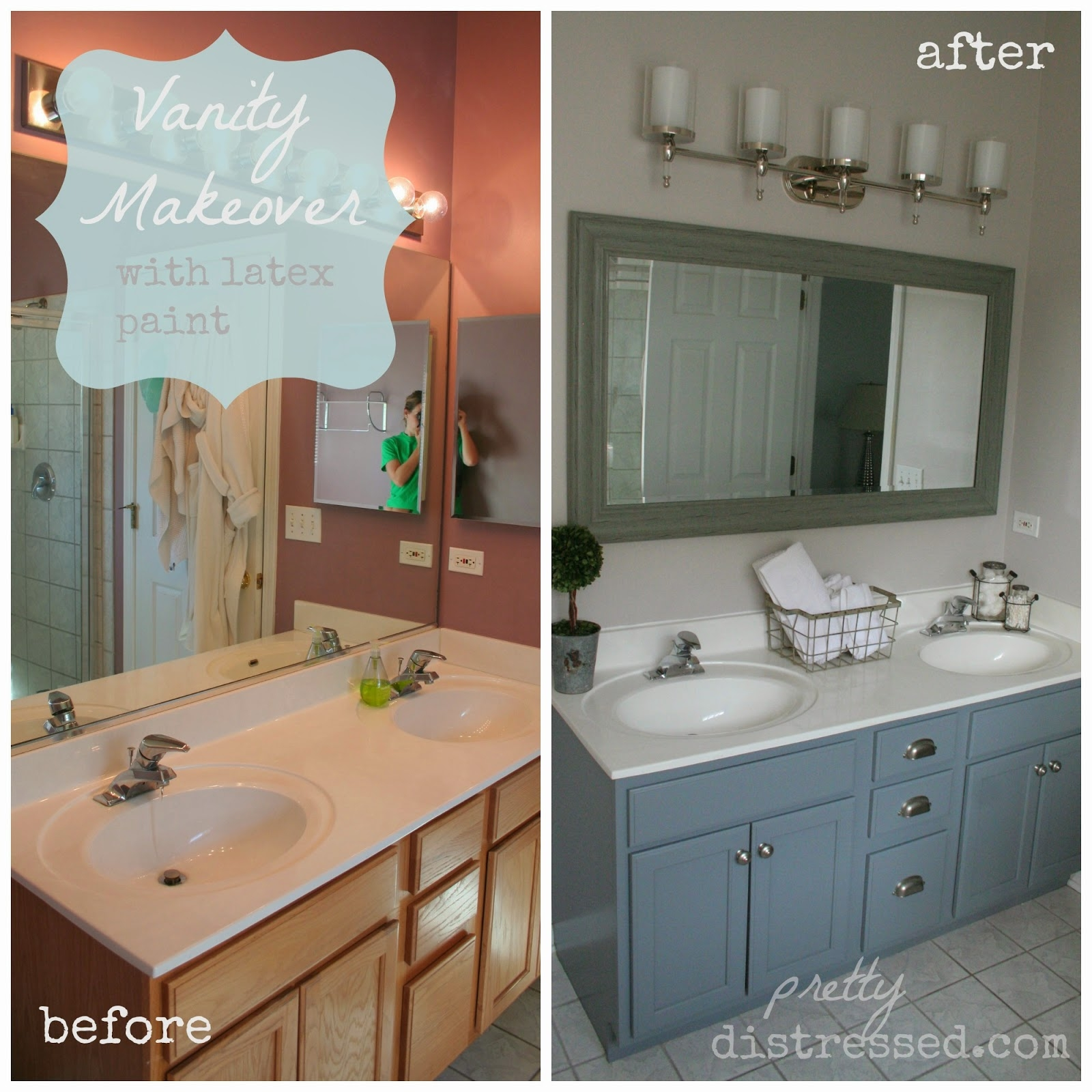 Repaint Bathroom Vanity