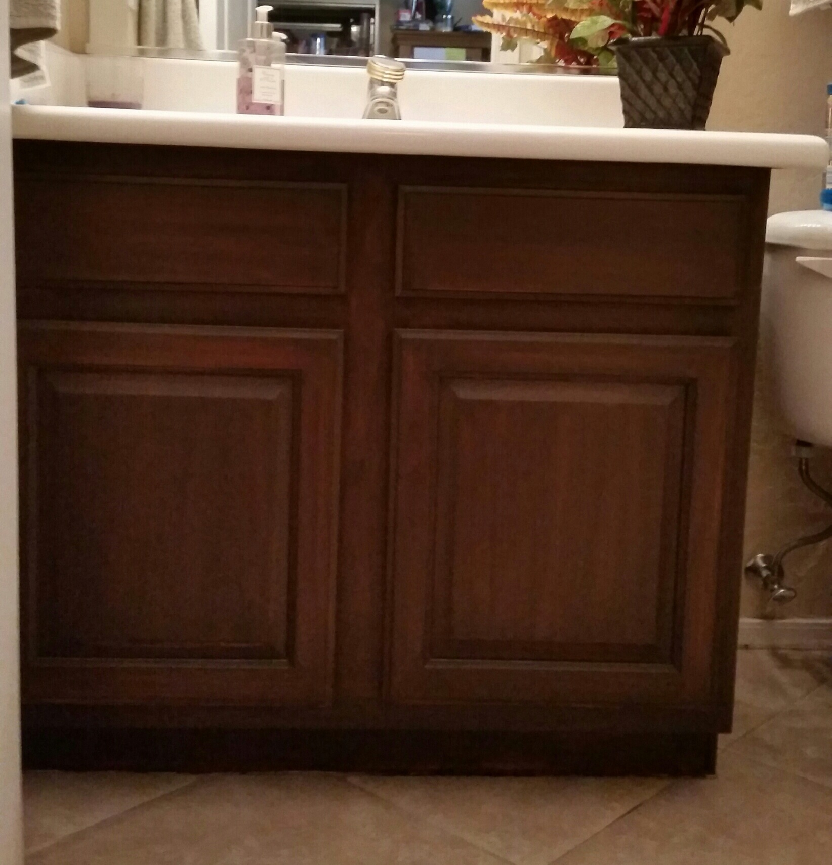 Staining White Bathroom Cabinets Darkerchoosing the right dark gel stain java gel stain vs walnut