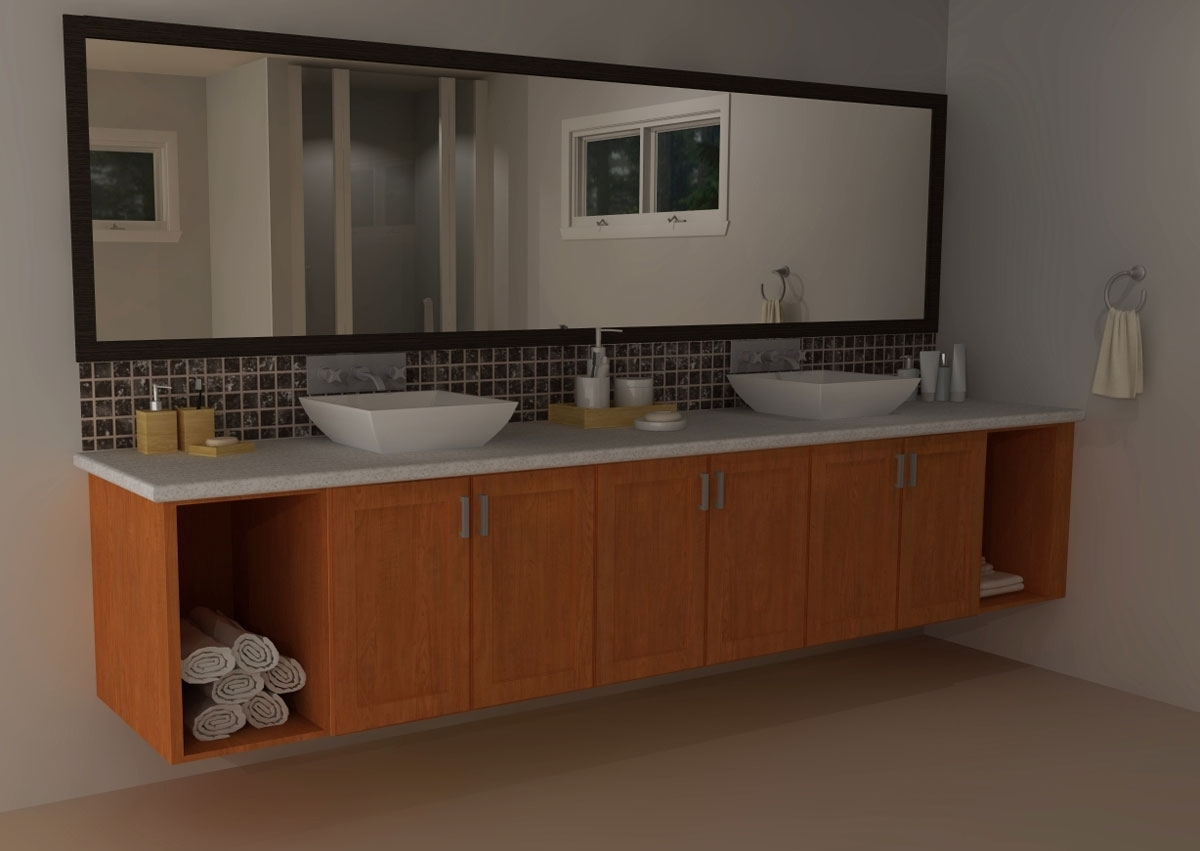 Using Kitchen Cabinets For Bathroom