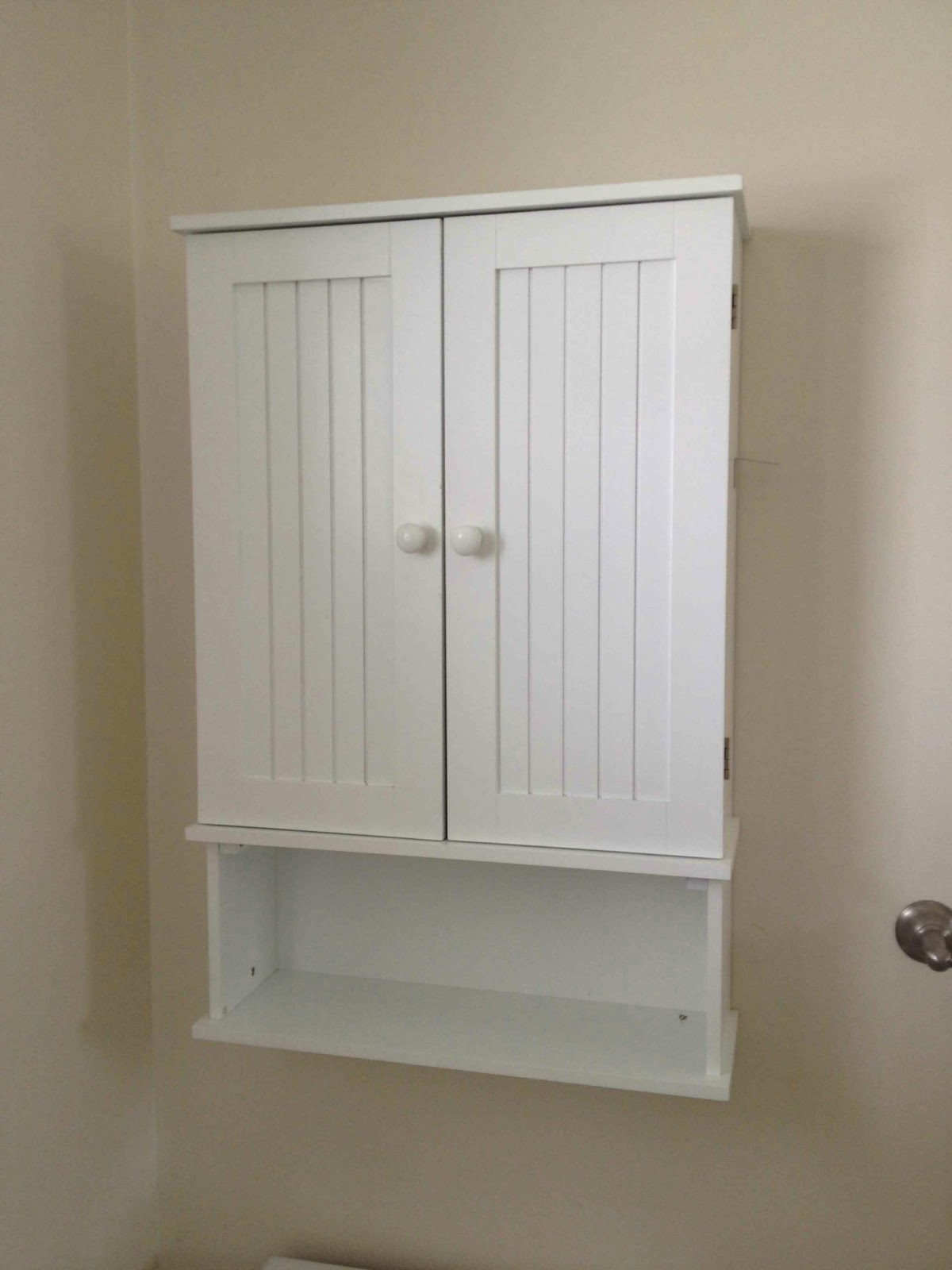 White Bathroom Wall Cabinet With Shelf