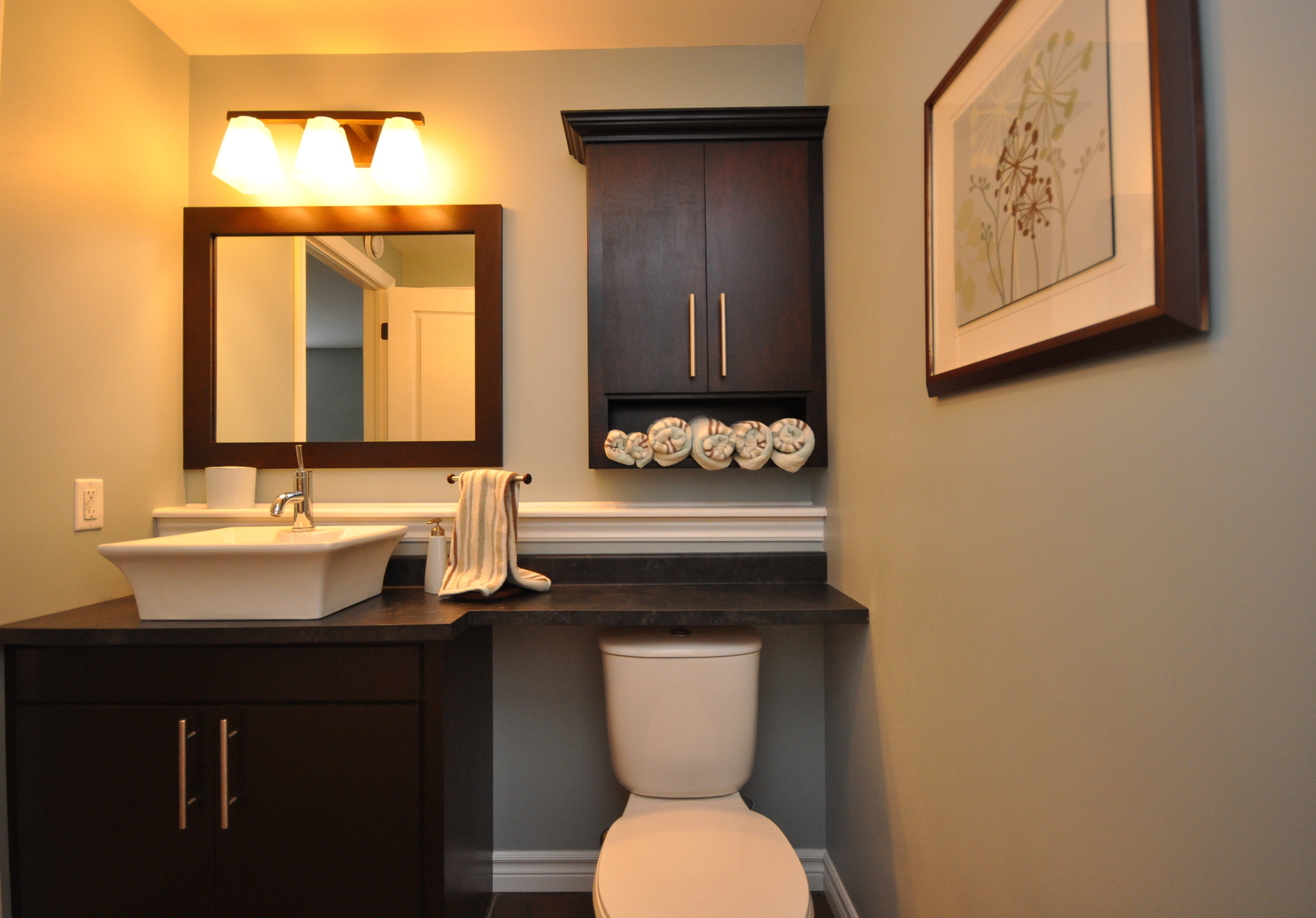 Wood Bathroom Cabinets Over Toilet