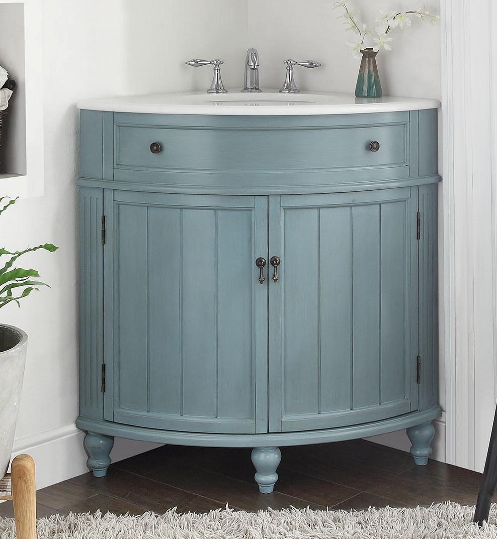 24 Inch Bathroom Vanity Blue