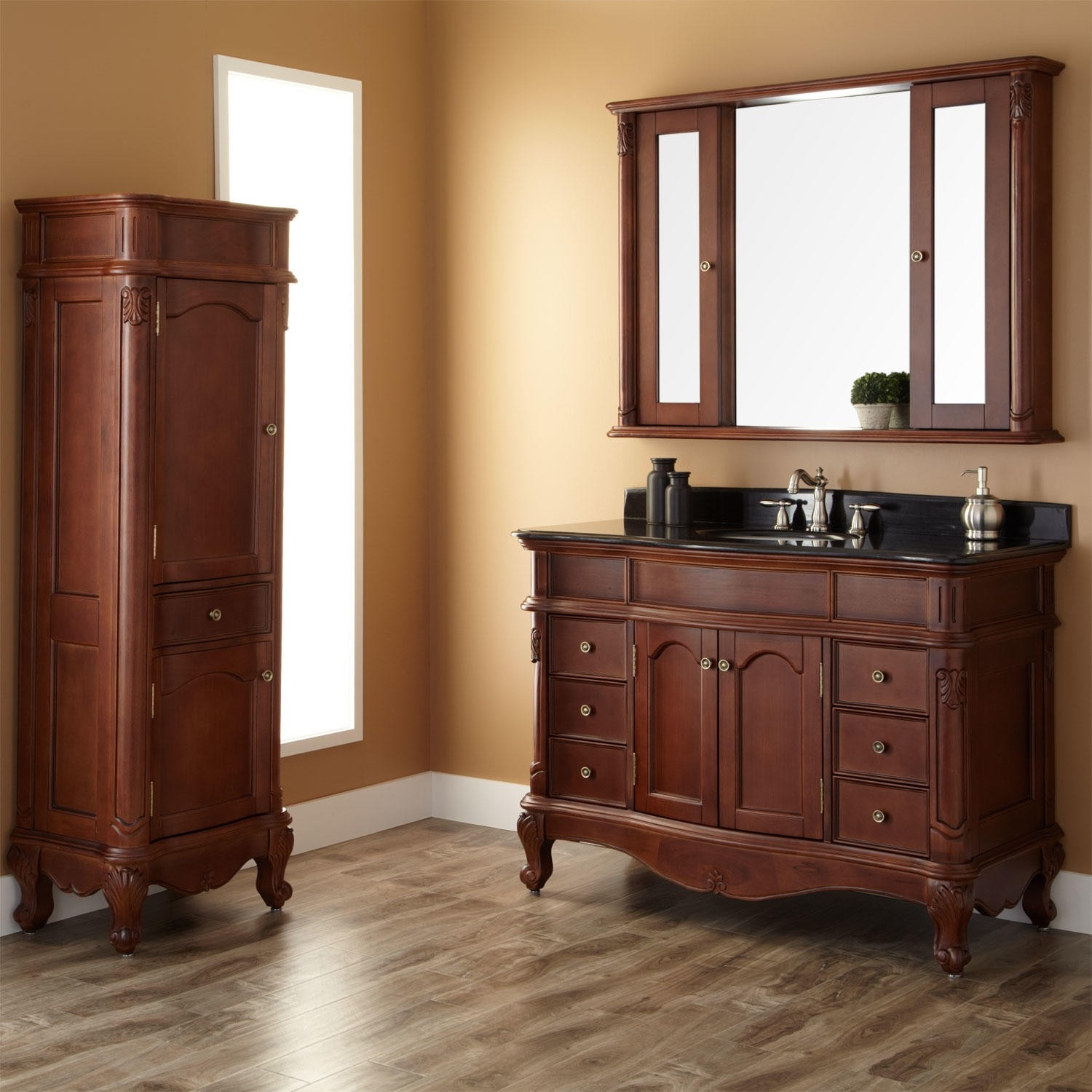 48 Bathroom Vanity With Matching Linen Cabinet
