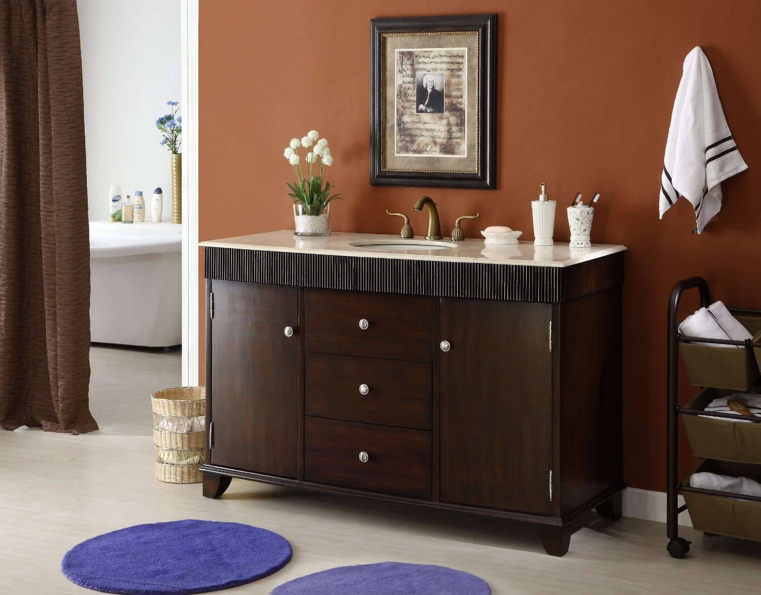 Permalink to 54 Inch Bathroom Vanity Cabinet