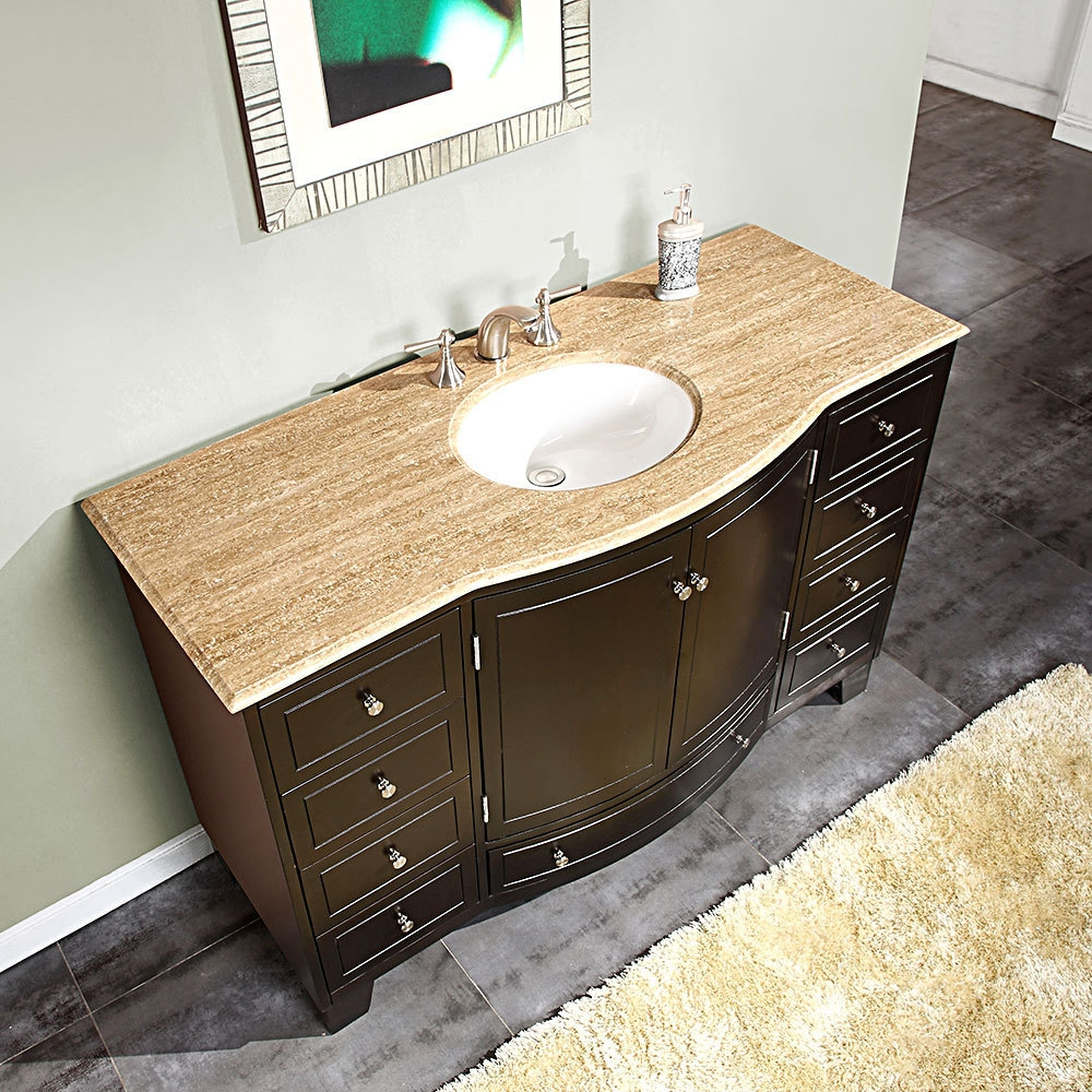 55 Inch Bathroom Vanity Top Single Sink