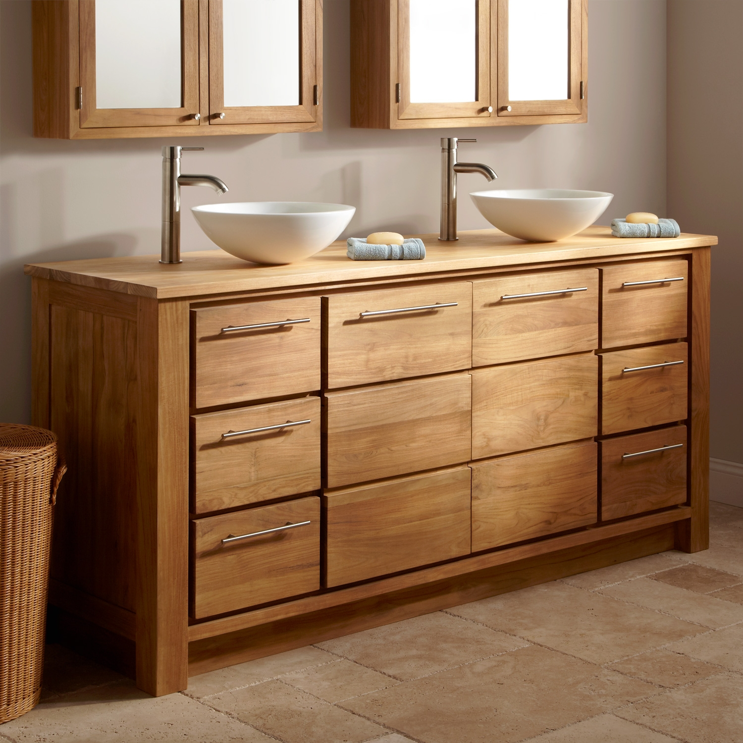 55 Inch Bathroom Vanity Without Top