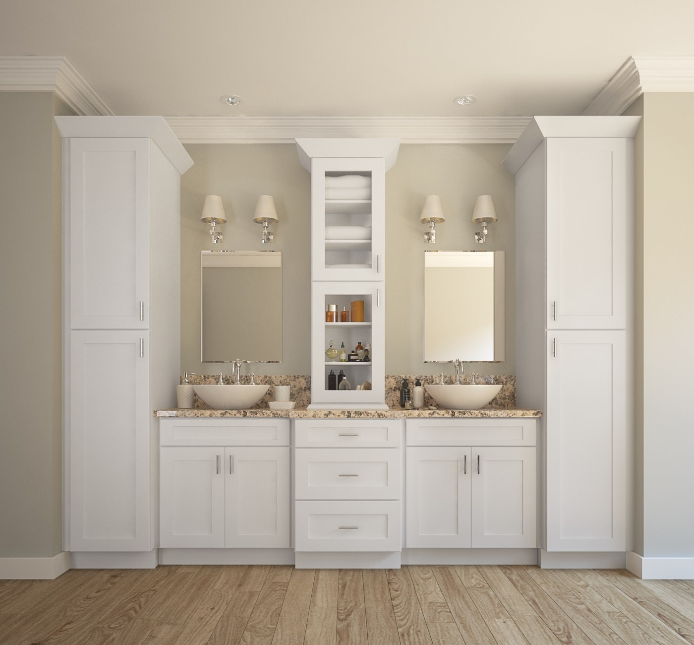 Already Assembled Bathroom Cabinets1400 X 1300