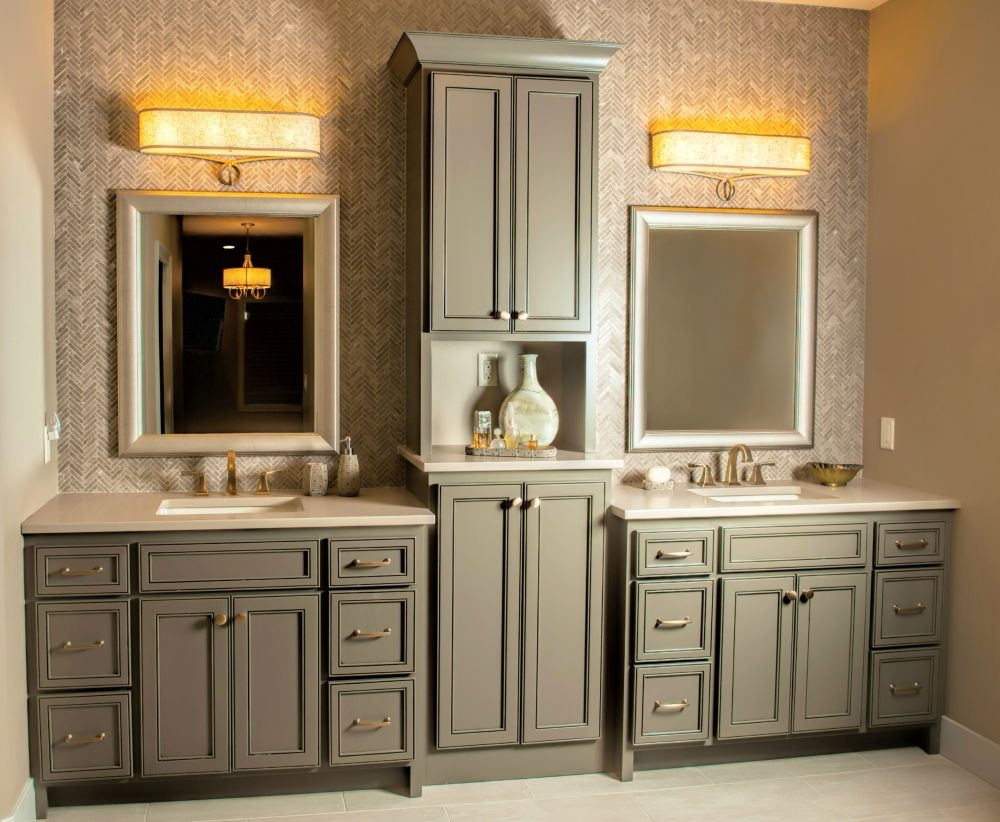Bath Vanity With Matching Linen Closet