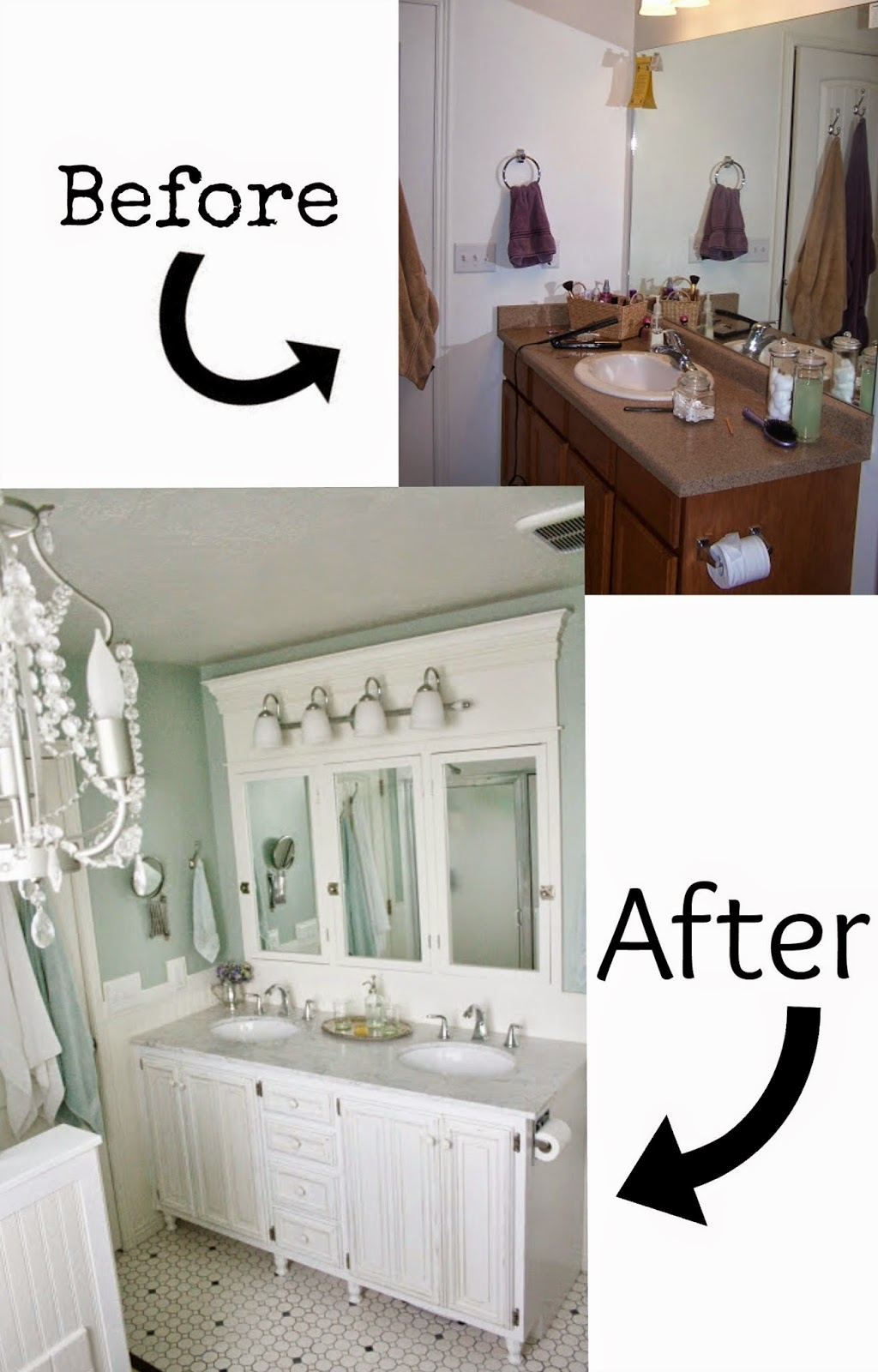 Bathroom Cabinet Door Makeover